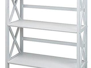 montego 3 shelf bookcase  white