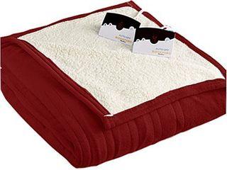 Biddeford Pure Warmth by MicroPlush Sherpa Electric Heated Blanket King Brick
