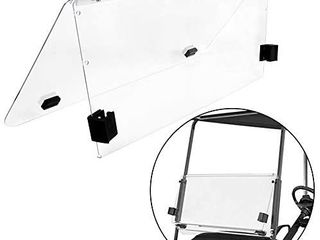 ECOTRIC Clear Fold Down Windshield for Club Car DS   2000 5 to Current   Impact Resistant Windshield for DS Golf Cart
