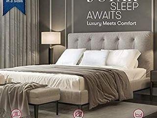 Beckham Hotel Collection Gel Pillow   luxury Plush Gel Pillow   Dust Mite Resistant   Hypoallergenic   King