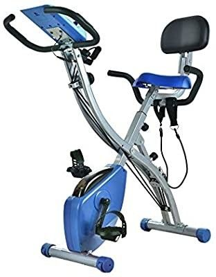 Wonder Maxi Folding Magnetic Exercise Bike  Upright Recumbent Pulse Sensor Bike with Arm Resistance Bands lCD Monitor Phone Holder