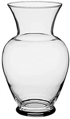 Floral Supply Online 10 5 8  Clear Spring Garden Vase   Decorative Glass Flower Vase for Floral Arrangements  Weddings  Home Decor or Office