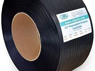 1 2  x 9000  Hand Grade Polypropylene  PP  Strapping Roll  8  x 8  Core Size  Black  Pack of 1
