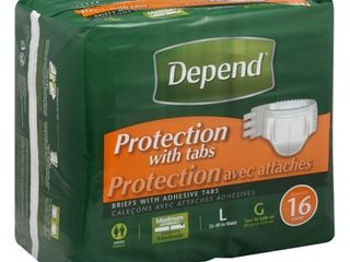 Depend Protection with Tabs Maximum Absorbency  large  16 Count