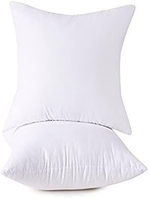 Set of 2  100  Cotton Down Alternative Decorative Throw Pillow Insert