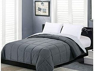Homelike Moment Reversible lightweight Comforter Queen Gray All Season Down Alternative Bed Comforter Summer Duvet Insert Quilted Comforter