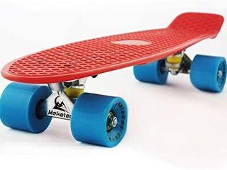 Mini Cruiser Retro Skateboard for Kids Boys Youths Beginners