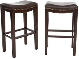 Christopher Knight Home Avondale Backless Bar Stools  2 Pcs Set  Brown