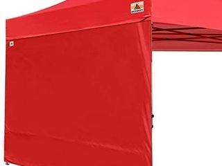 punchau pop up canopy tent red with side panel