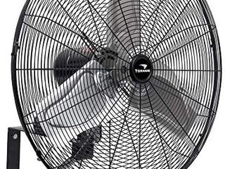 Tornado   24 Inch High Velocity Indoor Oscillating Wall Mount Fan   3 Speed with 7500 CFM   Ul Safety listed