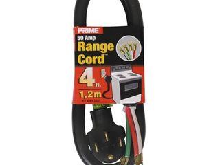 Prime RD628204l 4  6 2   8 2 SRDT Black 50 Amp Range Cord