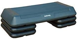 28 5  Original Aerobics Step Height Adjustable 4    6    8  Fitness   Exercise Step Platform with 4 Risers
