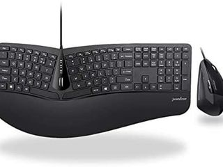 Perixx Periduo 505  Wired USB Ergonomic Split Keyboard with Adjustable Palm Rest   US English layout  NO MOUSE