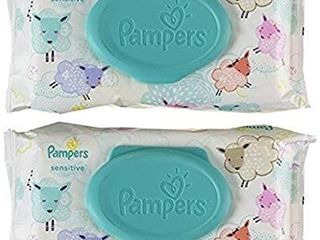 Baby Wipes  Pampers Sensitive Water Based Diaper 72 Count per pack  2 packs total