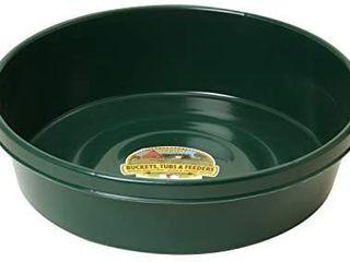 little Giant Plastic Utility Pan  Green  Durable   Versatile Short livestock Feeding Bucket  3 Gallon   Item No  P3GREEN