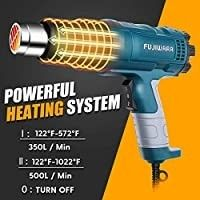 Heat Gun Kit 1500W with Dual Temperature Hot Air Gun 122aF 1022aF Heating in Seconds for DIY Shrink PVC Tubing Wrapping Crafts Stripping Paint  1500W 2 Gears Temp Setting