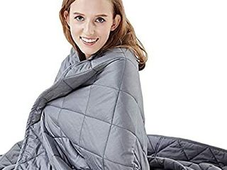 Hypnoser Weighted Blanket Twin Size  15 lbs 48 x72    for Kids and Adults   Heavy Blanket