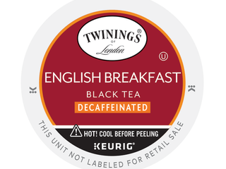 Twinings English Breakfast Decaffeinated Tea K Cups  24 Count