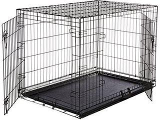 AmazonBasics Double Door Folding Metal Dog Crate   large  42x28x30 Inches