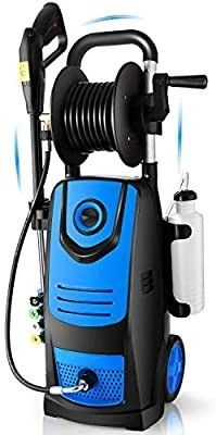 Suyncll Pressure Washer 3800 PSI 2 8GPM High Power Washer Washer with Blue Hose Reel