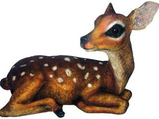 Brown   White S Deer Statue by Michael Carr Designs   Outdoor Deer Figure for Gardens  Patios and lawn