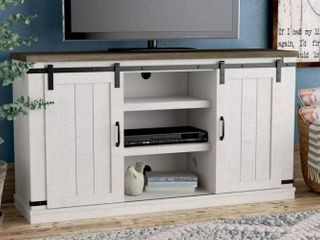 Bli Barn Door TV Stand for 60 Inch With Cable Management  Gray  Retail 172 99