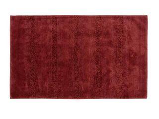Essence Chili Red Nylon Washable Bathroom Rug Runner