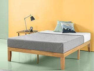 Zinus Moiz 14 Inch Wood Queen Platform Bed  Natural Finish