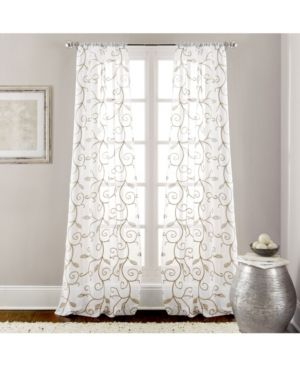 Embroidered Sheet Panel Curtain Pair