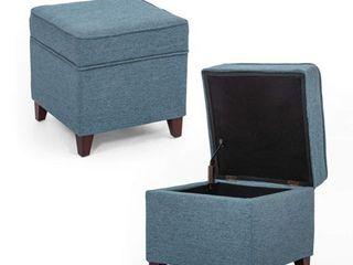 Homebeez Ottoman Storage Chest Footrest   Square Seat