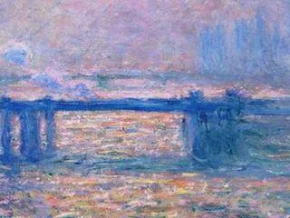 Charing Cross Bridge  Claude Monet   Premium Framed Print  Retail 137 49