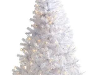 White Christmas 6 ft Tree with 680 Branches and 250 Clear lED lights  Retail 88 49