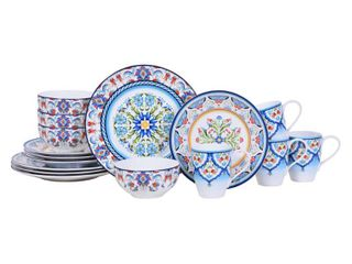 16 pieces Tunisia 16 Piece Dinnerware Set  Service for 4  Retail  99 98