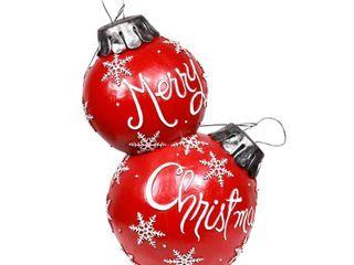 Red  Alpine Corporation Christmas Ball Ornament  lED light  Retail 218 99