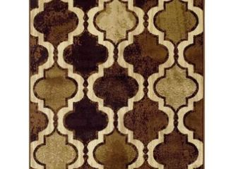 2 6  x 8    Coffee  Superior Viking Modern Geometric Moroccan Trellis Area Rug Collection