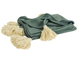 Rizzy Home Nonsolid Solid Gray Throw
