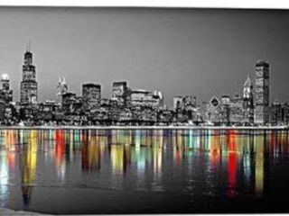 iCanvas  Color Pop Reflection in lake Michigan  by Panoramic Images Retail  81 99