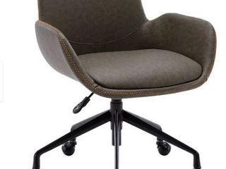 Archiology Faux leather Arm Desk Chair  Retail 142 99
