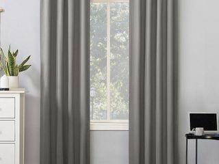 Cyrus Thermal 100  Blackout Back Tab 2 Curtain Panels Gray   Sun Zero