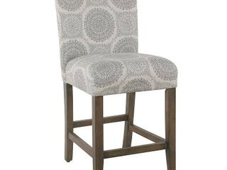 Homepop 24in Parsons Counter Stool   Gray Medallion  Retail 151 99