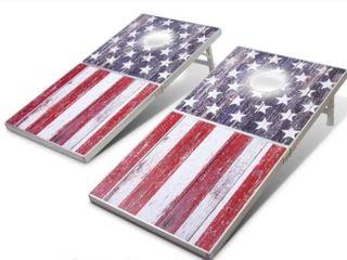 GoSports lED American Flag Cornhole Set  Regulation Size  Retail 129 97