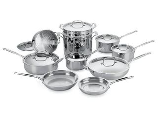 Cuisinart Stainless Steel 17 piece Cookware Chefs Classic  Retail 261 49