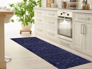 Sultanate Navy Kitchen Mat by Kavka Designs Retail  144 49
