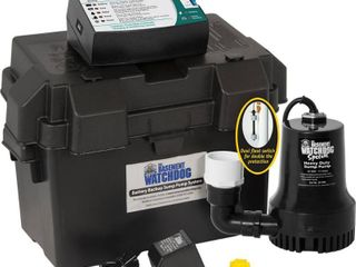 Basement Watchdog 3 10 hp 2600 gph Plastic Submersible Sump Pump Back Up  Retail 267 27