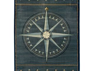 Westfield Home Sculptures lydia Hand Carved Blue Area Runner Rug  Retail  88 99