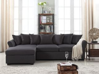 large linen Fabric Sectional Sofa with left Facing Chaise lounge  Retail 675 99