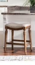 Copper Grove Barmstedt lockhart Brown Counter Stool with Beige Saddle Seating  Retail 105 99 powell 1 only