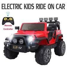 leadzm 12 v electric kids ride on car with remote red