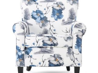 Roseville fabric Floral club chair by christopher knight Retail 379 49