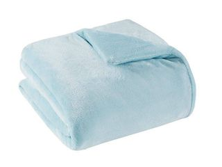 60  x 70  Solid Plush 25lbs Weighted Blanket Blue